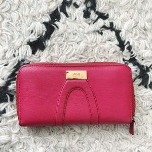 Armani Collezioni Hot Pink Wallet